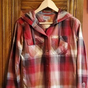 Red Flannel Carhartt Hoodie- SOLD
